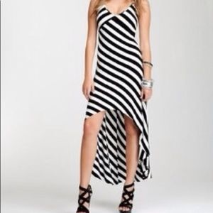 Bebe stripe high low dress.